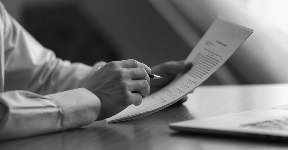 reading legal document